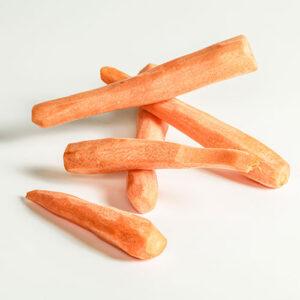 venta de zanahorias peladas